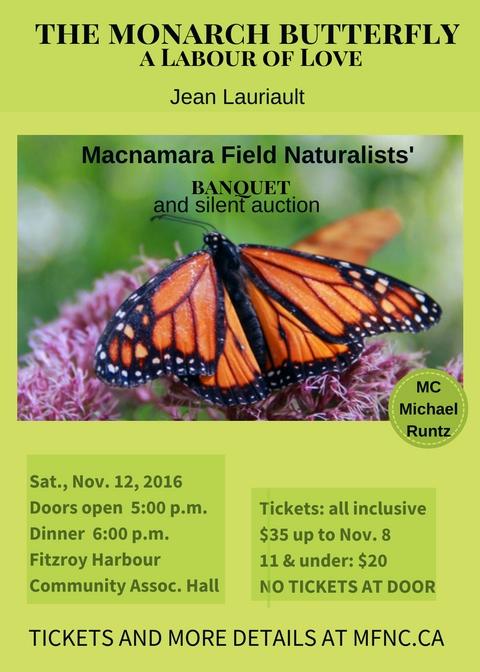 Macnamara Banquet 2016: The Monarch Butterfly, a labour of love