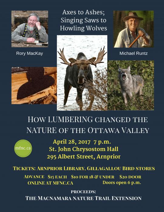 Macnamara Trail Fundraiser: How Lumbering changed the Nature of the Ottawa Valley
